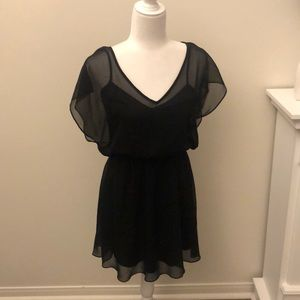 Express Sheer Black Dress
